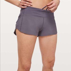 dark purple lulu shorts